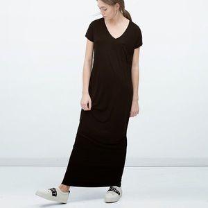 Zara STRIPED t-shirt maxi dress